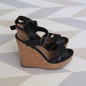Aldo Shoes - ALDO Black Wedges Size 5